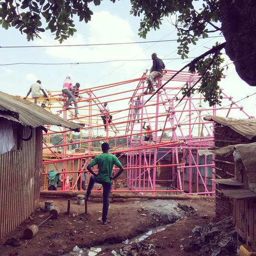 "helloeverything/SelgasCano, Kibera Hamlets School, 2016, Nairobi, Kenya. Courtesy of architects. From the 2017 organizational grant to New York Foundation for Architecture-Center for Architecture for ""Scaffolding"". Image courtesy of The Graham Foundation"