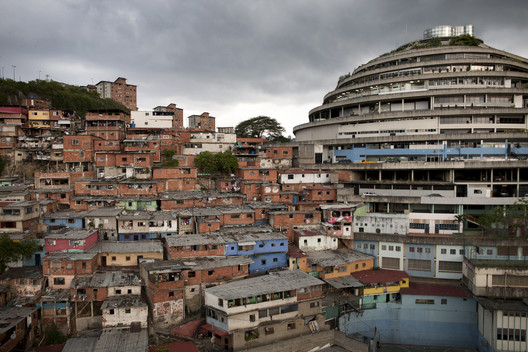 "Pietro Paolini, UR12 Downward Spiral: El Helicoide's Descent from Mall to Prison. El Helicoide, Caracas, Venezuela, 2012. Courtesy of Pietro Paolini/Terra Project. From the 2017 organizational grant to Terreform for ""UR (Urban Research) 2017"". Image courtesy of The Graham Foundation"