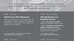 Semana Arquitetura Mackenzie 100 Anos - FAU-Mackenzie 70 Anos