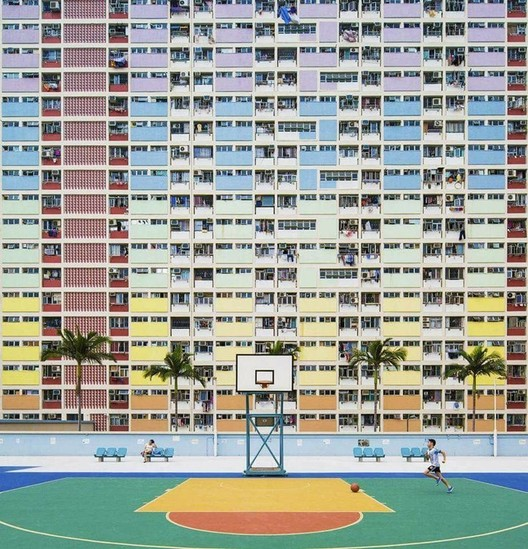 Choi Hung Estate in Hong Kong. Image <a href='https://www.reddit.com/r/AccidentalWesAnderson/comments/6s1glf/this_apartment_building/'>via Reddit user shaggysnorlax</a>