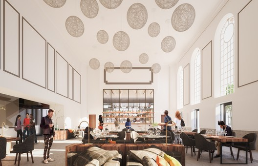 Cafe. Image © Mecanoo Architecten