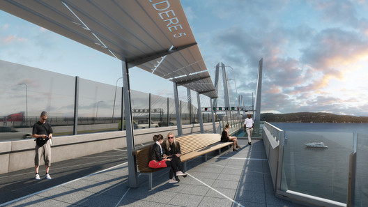 Conceptual renderings of the bridge. Image Courtesy of New York State Thruway Authority