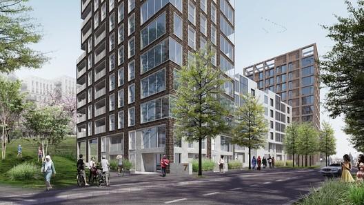 CF Møller's Phase 3 Plan for the Blackwall Reach development. Image Courtesy of CF Møller