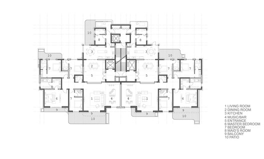 Tower Typical Floor Plan Type A