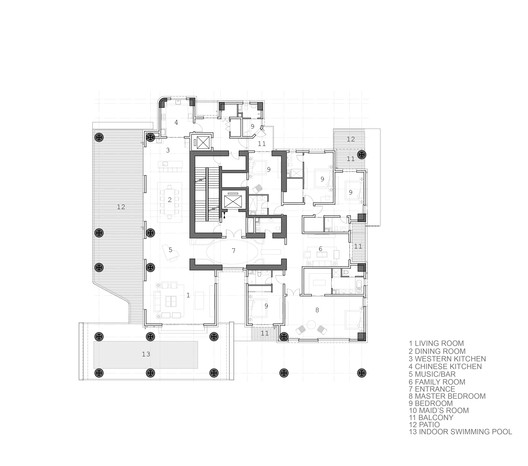 King Tower Typical Floor Plan Type A
