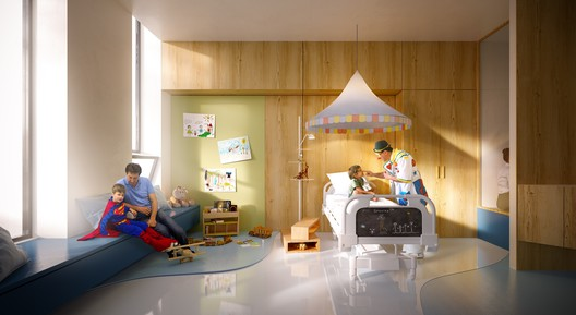 Patient room. Image Courtesy of 3XN
