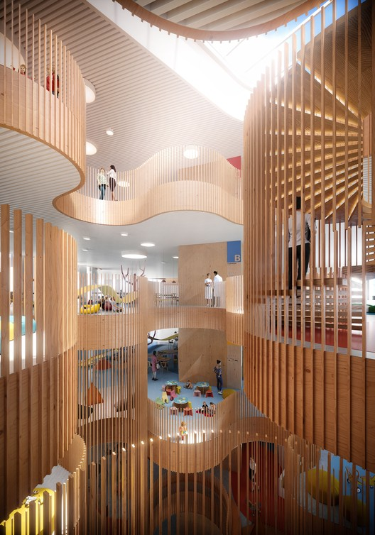 3XN Wins Competition for Copenhagen Children's Hospital with 'Playfully Logical' Design