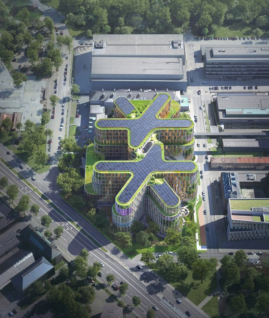 Aerial view. Image Courtesy of 3XN