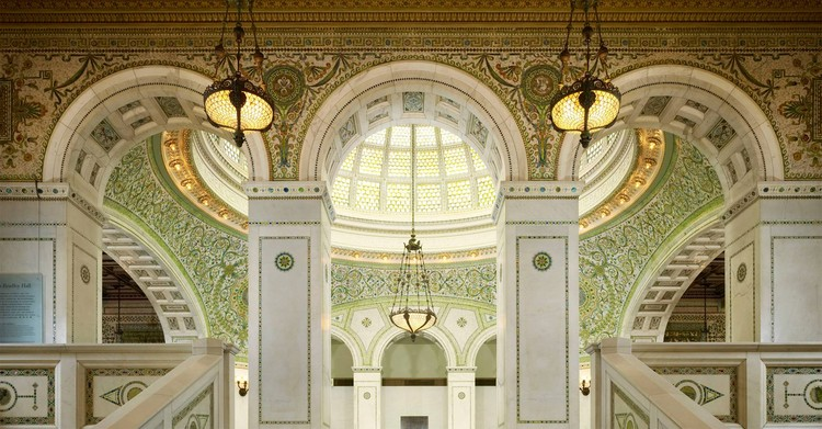 Chicago Cultural Center, Home Of The Chicago Architecture Biennial. Image  Courtesy Of Holabird U0026