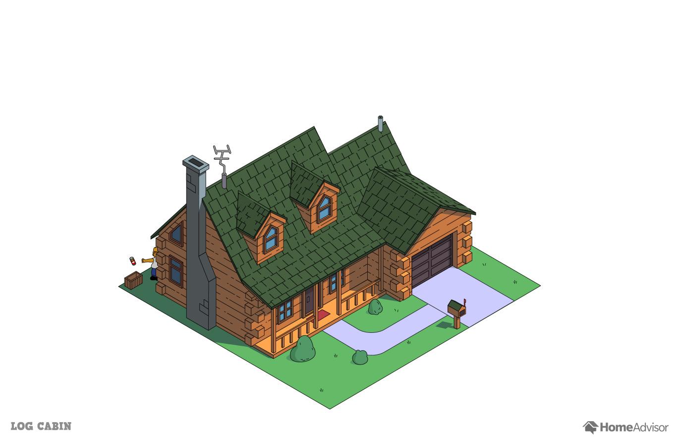 Схема домов в симпсонах