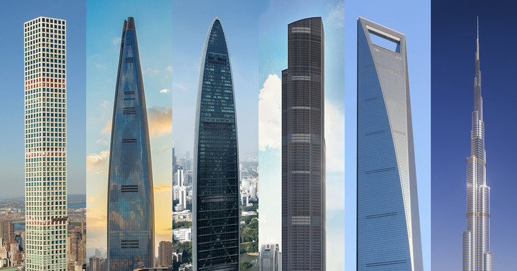 These Are the World's 25 Tallest Buildings, © Marshall Gerometta/CTBUH; © zjaaosldk, under license CC0; © Carsten Schael; © K11 / New World Development; © Ferox Seneca, under licenseCC BY 3.0; courtesy of SOM