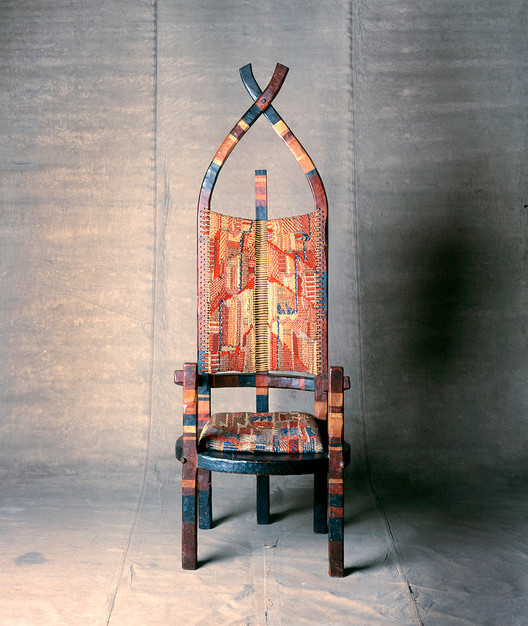 The Unfamiliar History of an Expressionist, Crafty Bauhaus, The African Chair, designed in 1921 by Gunta Stölzl and Marcel Breuer. Image Courtesy of Bauhaus-Archiv Berlin, photo: Hartwig Klappert/© 2019 Artists Rights Society (ARS), New York/VG Bild-Kunst, Bonn
