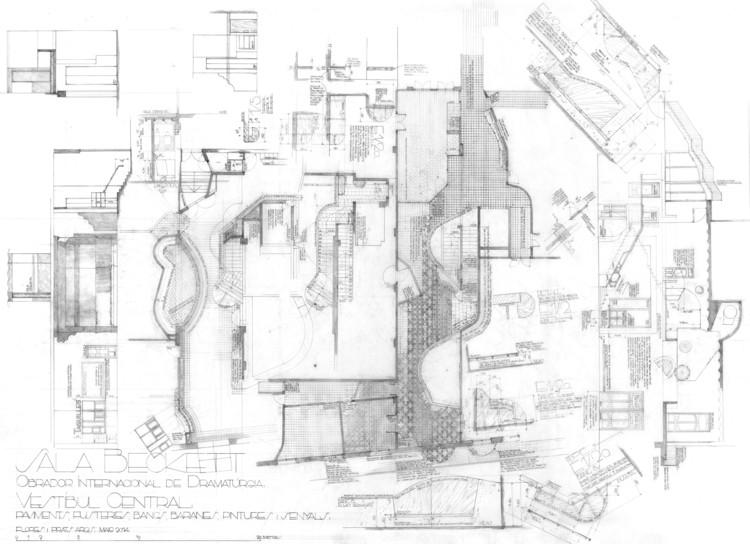 """Flores & Prats: """"We Draw with the Responsibility to Build"""", Sala Beckett: Definición del vestíbulo central. Image Cortesía de Flores & Prats"""