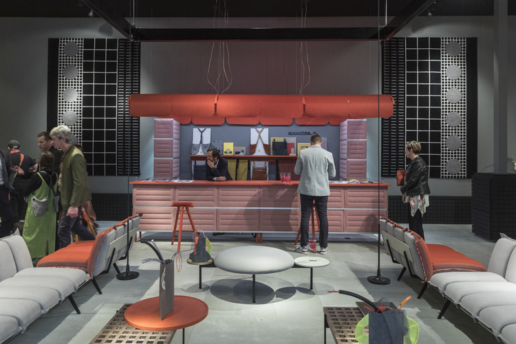 Sancal Pavilion at Salone del Mobile is Inspired by the Maze of Milan Underground, Courtesy of ArchDaily