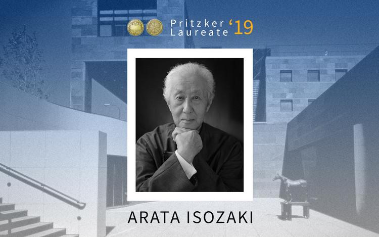 Arata Isozaki Accepts the 2019 Pritzker Prize, Collage by Danae Santibáñez (ArchDaily). Image © Pritzker