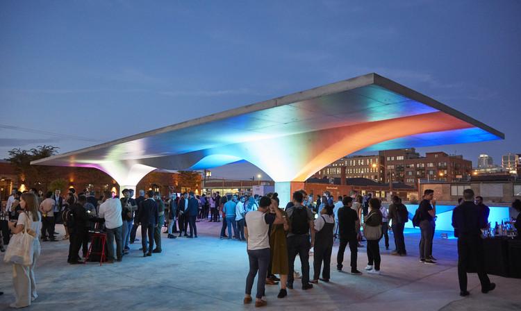 SOM Designs Stereoform Slab Pavilion for 2019 Chicago Architecture Biennial, Courtesy of Dave Burk | SOM