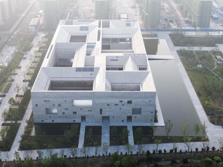 Shou County Culture and Art Center / Studio Zhu-Pei, aerial view. Image © Shengliang Su