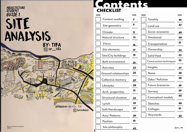 Site Analysis, Site Analysis Ebook cover and contents