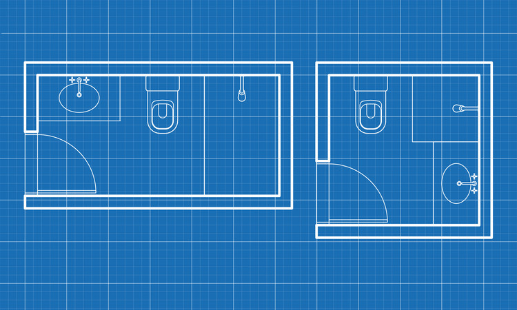 Minimum Dimensions and Typical Layouts for Small Bathrooms, © Eduardo Souza (ArchDaily)