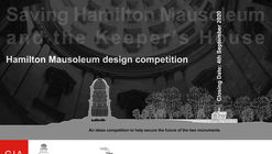 Hamilton Mausoleum Design Competition
