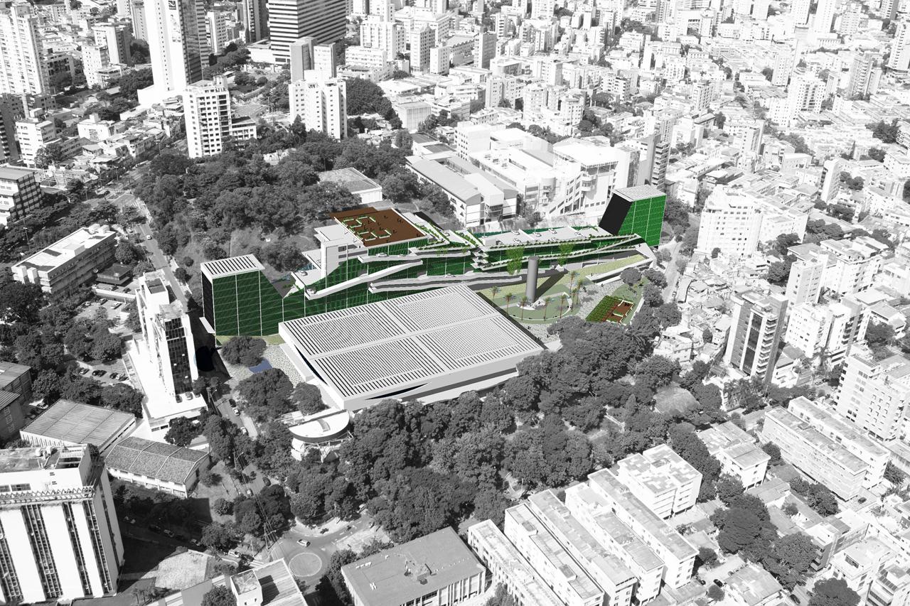 Concurso Mercado Distrital do Cruzeiro - 2° Lugar / João Diniz Arquitetura, Implantação