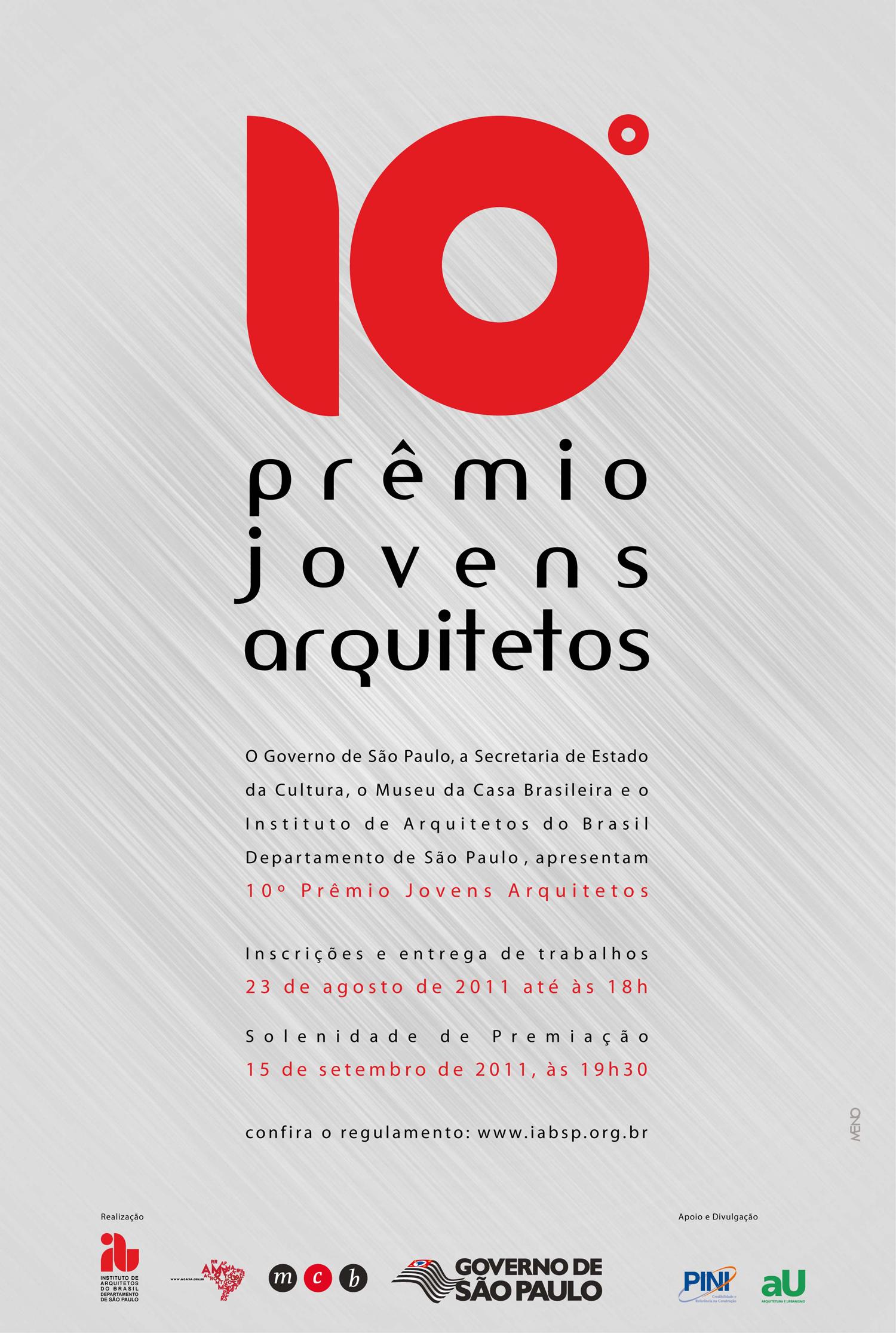PREMIADOS – 10º PRÊMIO JOVENS ARQUITETOS - IAB / São Paulo - SP, Imagem via IAB/SP