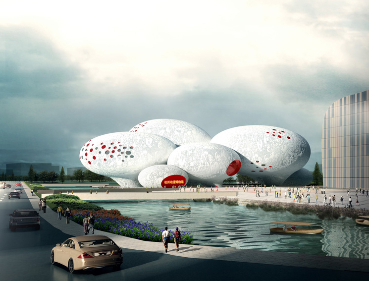 China Comic and Animation Museum (CCAM) / MVRDV, Imagem Vista Externa