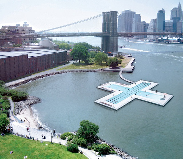 + Pool, a Piscina Flutuante de Nova York / Family e Playlab, Imagem de Implantação