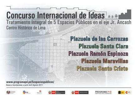 Concurso Internacional de Ideias para o Centro Histórico de Lima / Lima - Peru, Cartaz