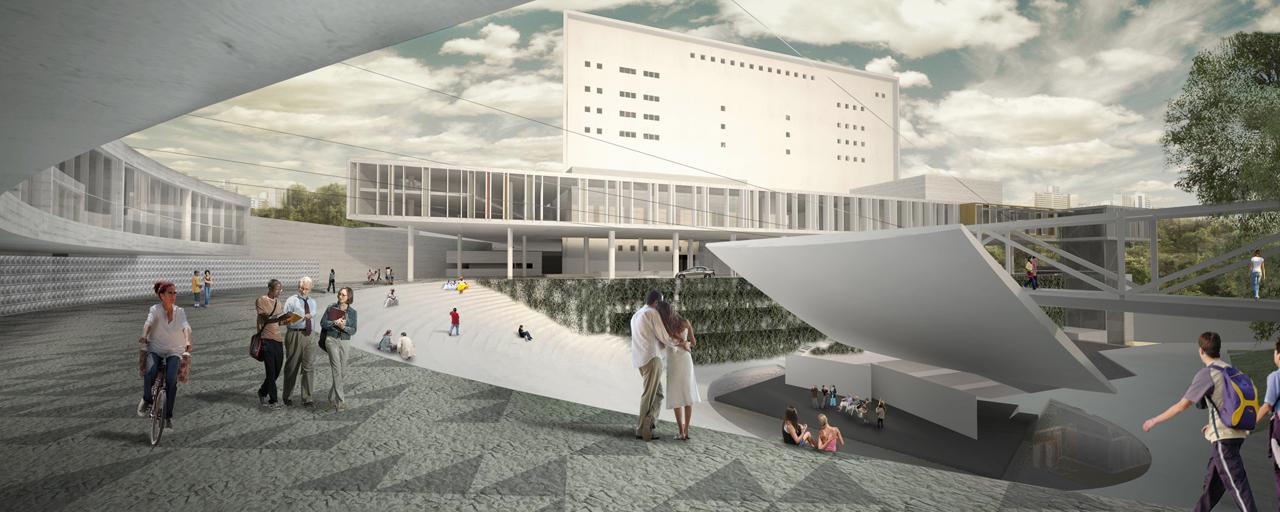 Novo Teatro Castro Alves / Estudio America, Imagem do Concurso - nova concha acústica e passarela