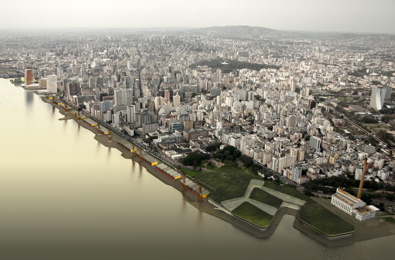 Complexo Cais Mauá / b720 Fermím Vázquez e Arquitectos e Jaime Lerner Arquitetos Associados, Projeto Cais Mauá Vista Geral
