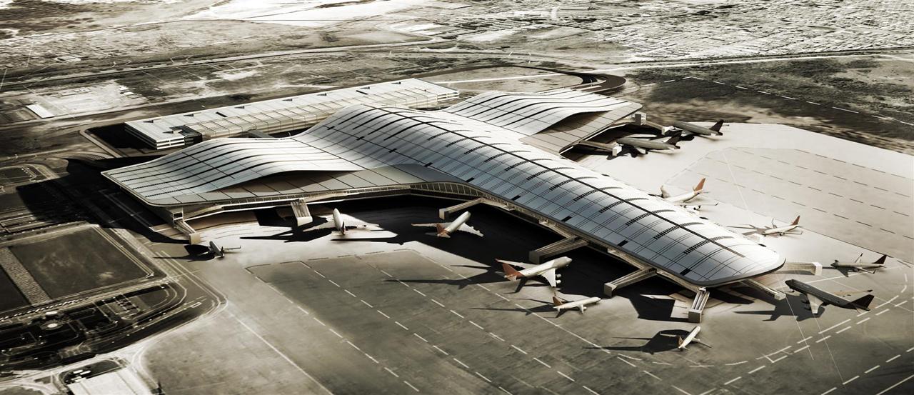 Complexo Terminal de Passageiros 3 Aeroporto de Guarulhos / Biselli + Katchborian Arquitetos - GPA Arquitetura e PJJ Malucelli Arquitetura, Vista aérea