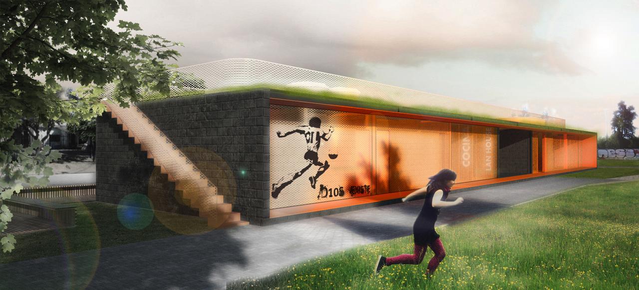 Centro de Juventude e Esportes - Projeto Vencedor do Concurso Copa Arquitectura de Architecture for Humanity / Urban Recycle Architecture.Studio, © Urban Media
