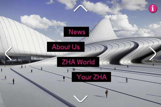 Zaha Hadid Arquitects lança aplicativo para Iphone e Ipad, Imagem via iTunes