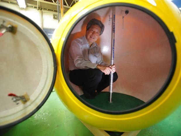 Capsúla para sobreviver a tsunamis / Japão, © AP