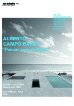 Hoje: Alberto Campo Baeza: Pensar com as mãos - conferência em trânsito #037 / Porto - Portugal, Divulgação