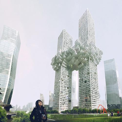 """Polêmico projeto """"The Cloud"""" de MVRDV / Seul - Coréia do Sul"""
