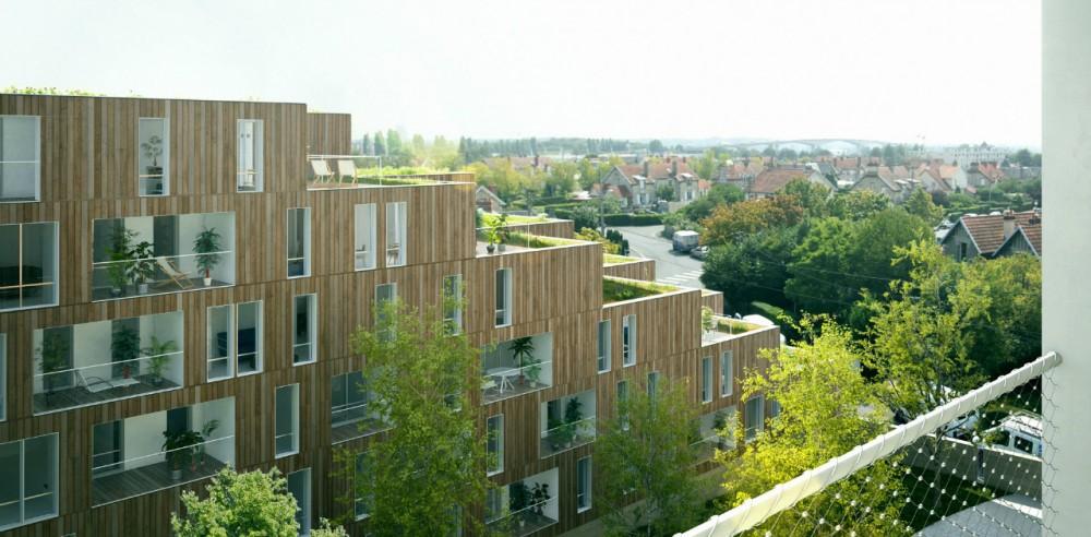 OLGGA Architects apresenta proposta em Concurso de Habitação Social com este original vídeo / Caen - França, Cortesia Olgga Architects