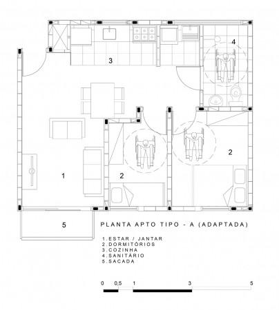 CHH - Planta Apto. Tipo A Adaptada