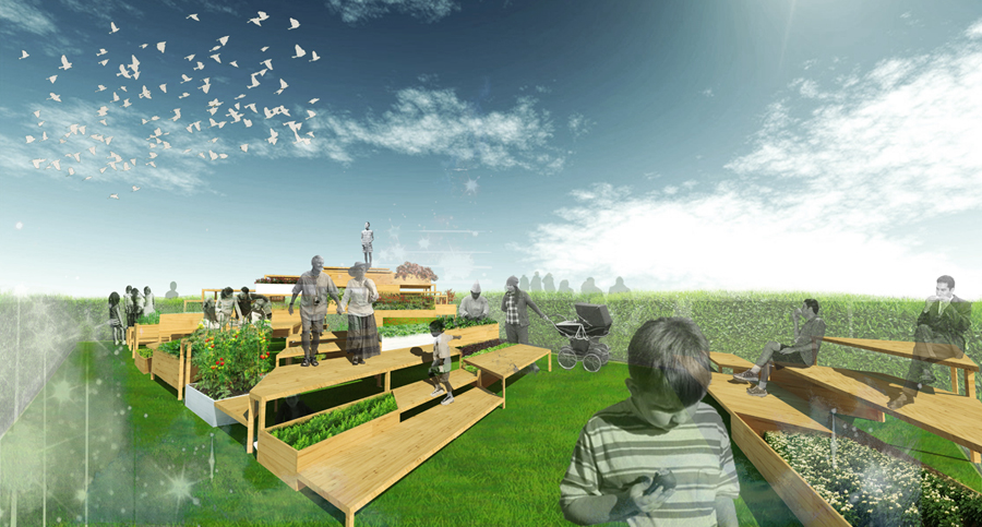 Horta em pendente / Active City Transformation, Cortesia Active City Transformation
