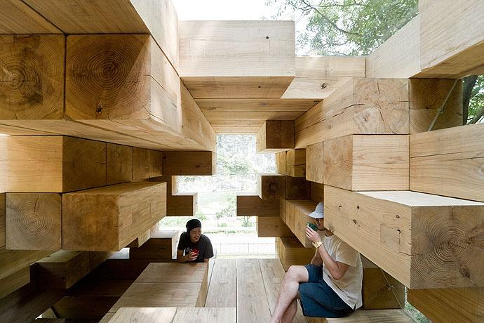 Final Wooden House / Sou Fujimoto, © Iwan Baan