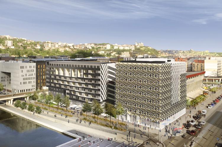 Urbanização de Îlot P em Lyon Confluence / Mateo Arquitectura e Dominique Perrault Architecture, Vista do Conjunto
