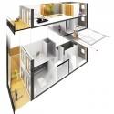 Corte - perspectiva Apto. Duplex