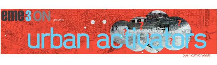 Inscrições Abertas - Concurso Internacional de Ideias: Urban Activators, Urban Activators