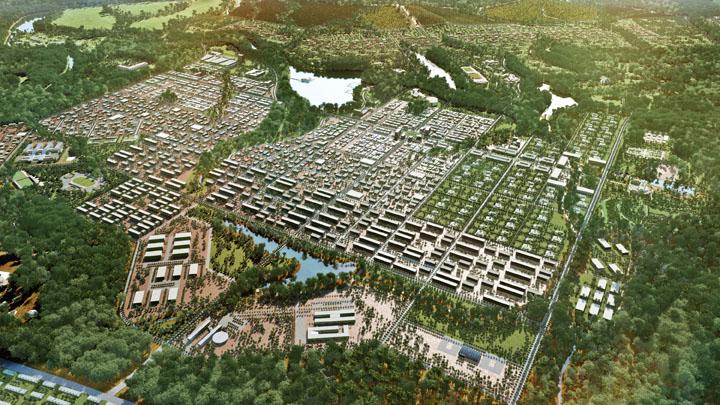 Djibloho Futura capital da Guiné‐Equatorial / Ideias do Futuro, Implantação Geral