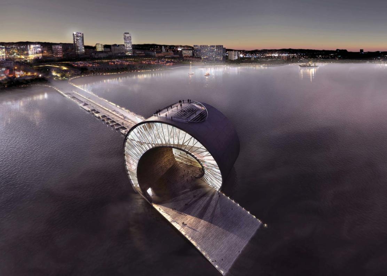 Conheça as 3 propostas finalistas do concurso do St. Petersbourg Pier, The Wave © BIG
