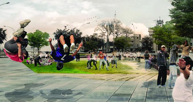 """Resultado Concurso Internacional: """"Tratamento Integral de 5 Espaços Públicos no Centro Histórico de Lima"""", Primeiro Lugar"""