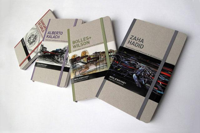 Série especial de Moleskine com grandes nomes da arquitetura contemporânea, Divulgação