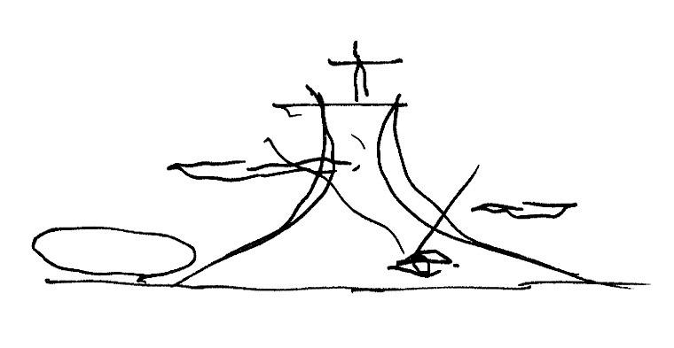 Lições Instantâneas (2/5) / João Diniz, Croquis Oscar Niemeyer