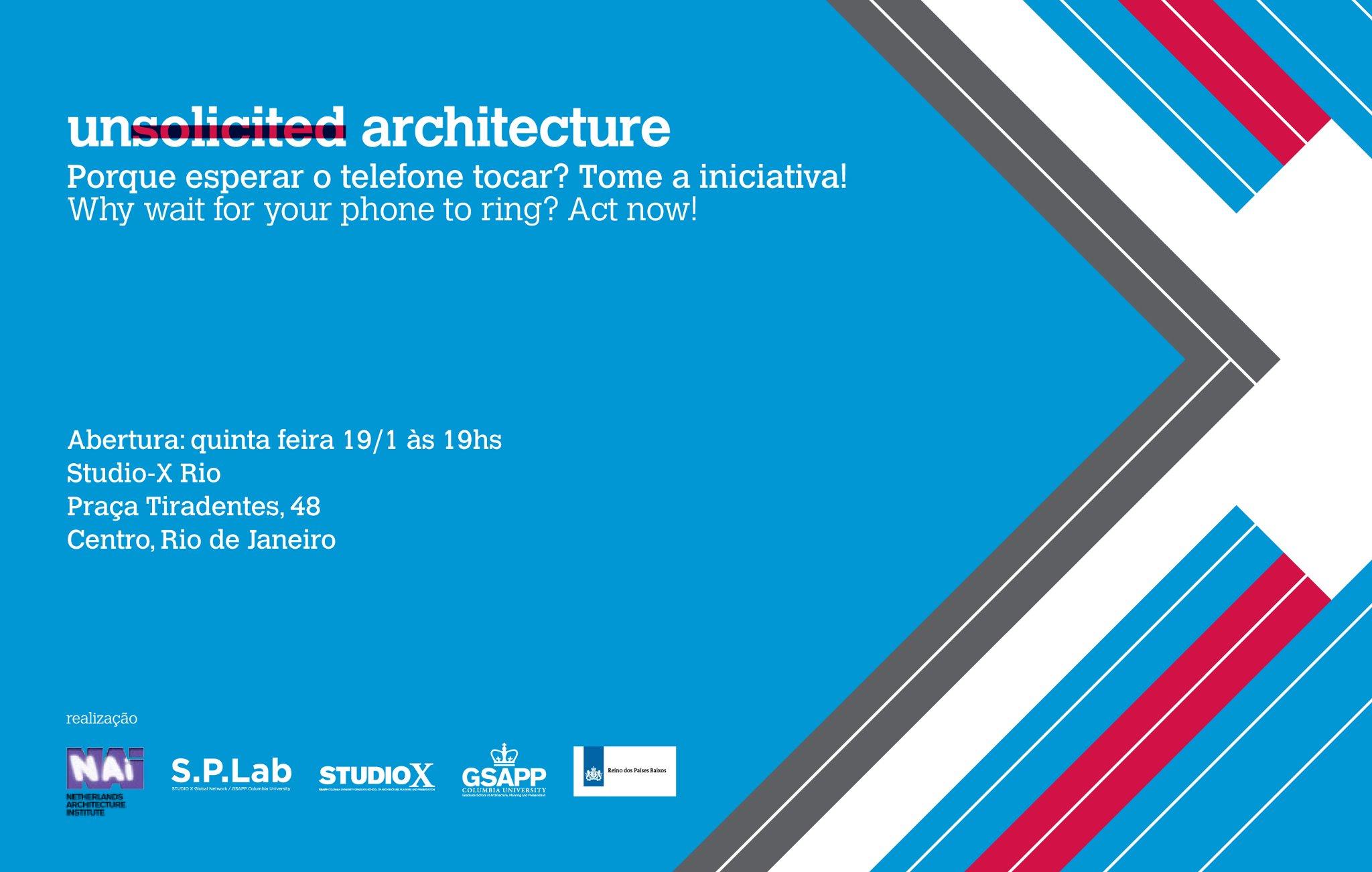 Exposição Unsolicited Architecture - Studio X / Rio de Janeiro - RJ, Cortesia Studio X Rio